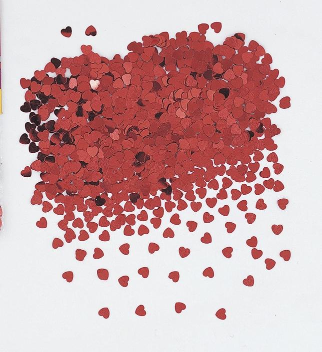#900146 confetti coeur rouge 0.5oz 2.99$
