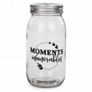 Bocal tirelire - moments mémorables 8.99$